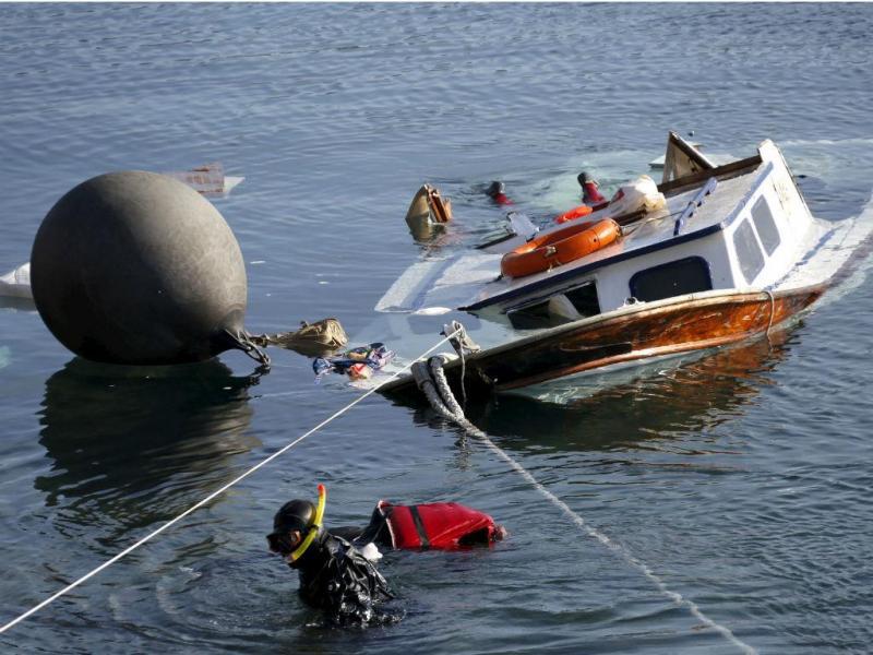 Bote com refugiados colidiu com barco patrulha grego