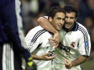 Raul e Figo (Reuters)