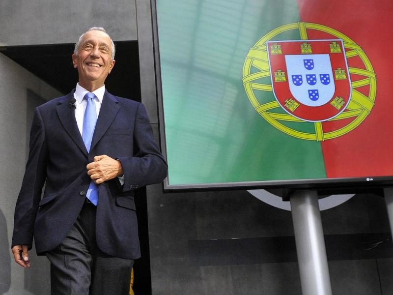 Marcelo Rebelo de Sousa na primeira sessão pública enquanto candidato a Belém (OCTÁVIO PASSOS/LUSA)