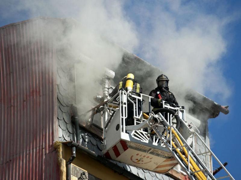 Incêndio na Ribeira do Porto