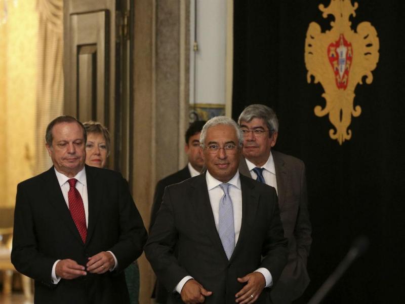 António Costa à saída da reunião com Cavaco Silva [Manuel de Almeida\Lusa]