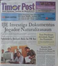 Polémica em Timor (Jornal Timor Post)