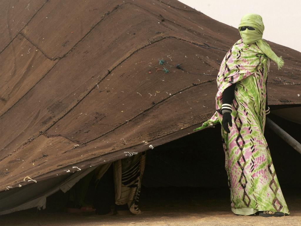 Mulher saharaui em Dahkla [Reuters]