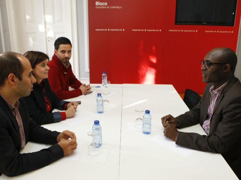 Bloco de Esquerda reunido com Rafael Marques [Lusa\Miguel A. Lopes]