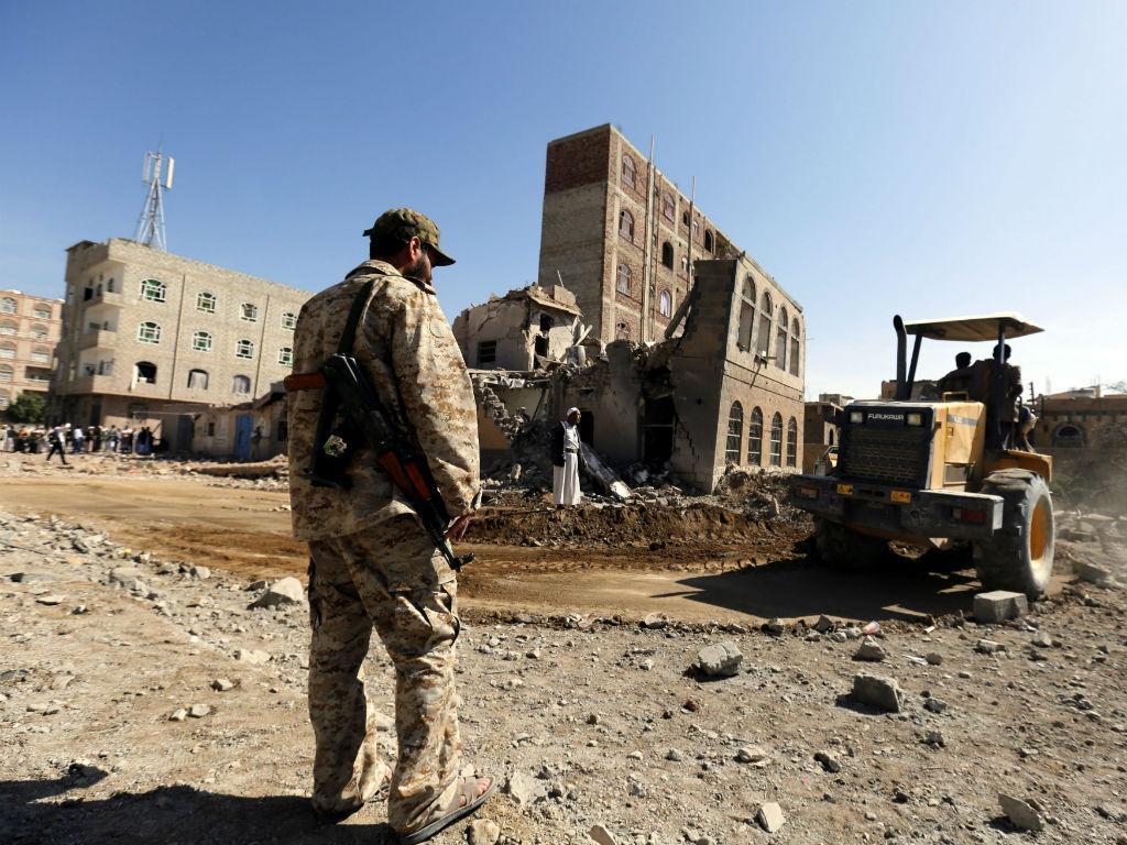 Ataques aéreos deixam o Iémen assim