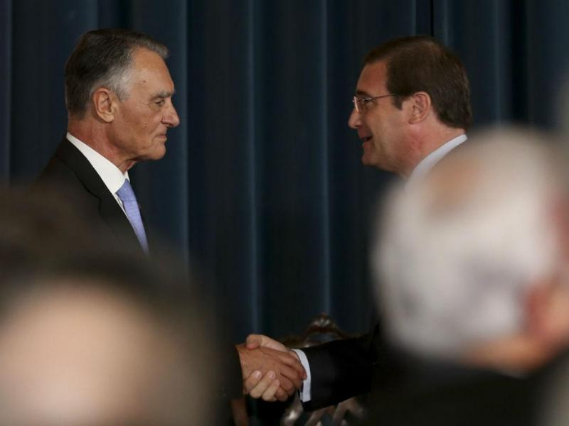 Cavaco e Passos na tomada de posse do XX Governo Constitucional (Lusa)