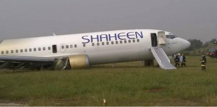 Avião da Shaheen Air faz aterragem de emergência [Reprodução YouTube]