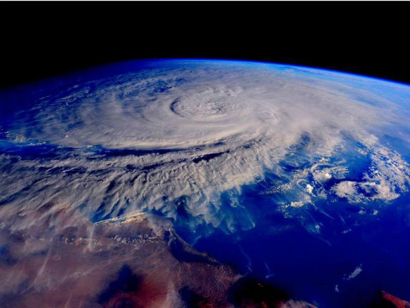 Ciclone Chapala visto do espaço