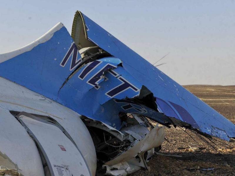 Avião da Metrojet que se despenhou no Egito [Reuters]