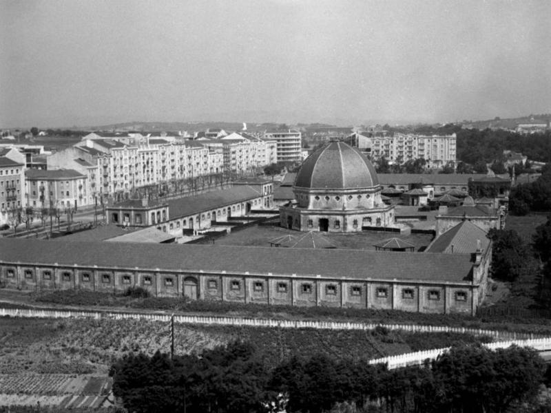 Mercado Geral de Gados, Entrecampos, Lisboa  (Blogue Restos de Colecção/Arquivo Municipal de Lisboa/ Biblioteca de Arte-Fundação Calouste Gulbenkian)