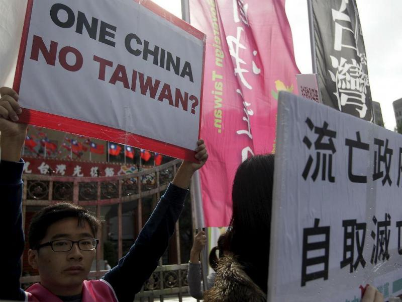 Protestos em Taiwan