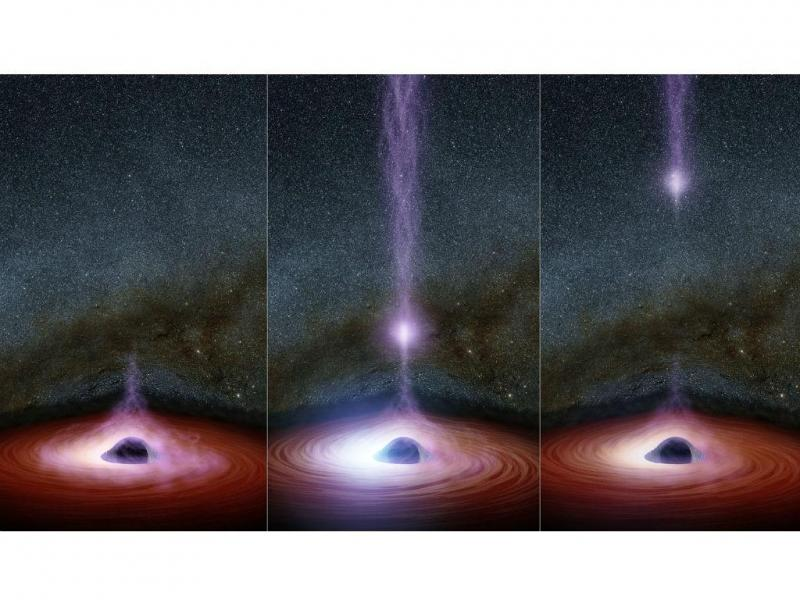 NASA capta luz raio-X a escapar de um buraco negro