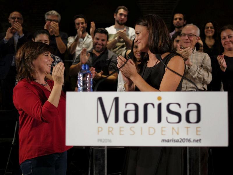 Marisa Matias apresenta oficialmente a candidatura à Presidência da República [Lusa]