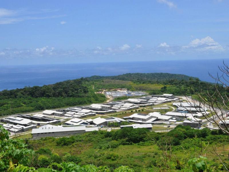 Centro de detenção de imigrantes em Christmas, Austrália (REUTERS)