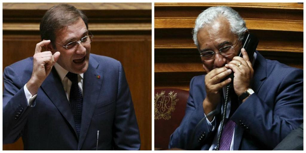 A fúria de Passos e o silêncio de Costa marcaram primeira sessão no parlamento [Fotos: Lusa]