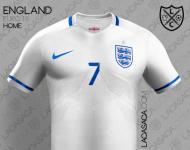 Euro-2016: a camisola principal de Inglaterra (oficial)