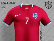 Euro-2016: o equipamento principal de Inglaterra (oficial)
