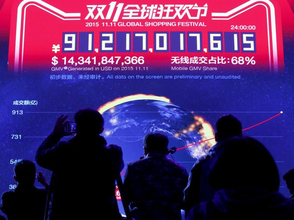 """Grupo Alibaba com vendas recorde no """"Dia dos Solteiros"""" (REUTERS)"""