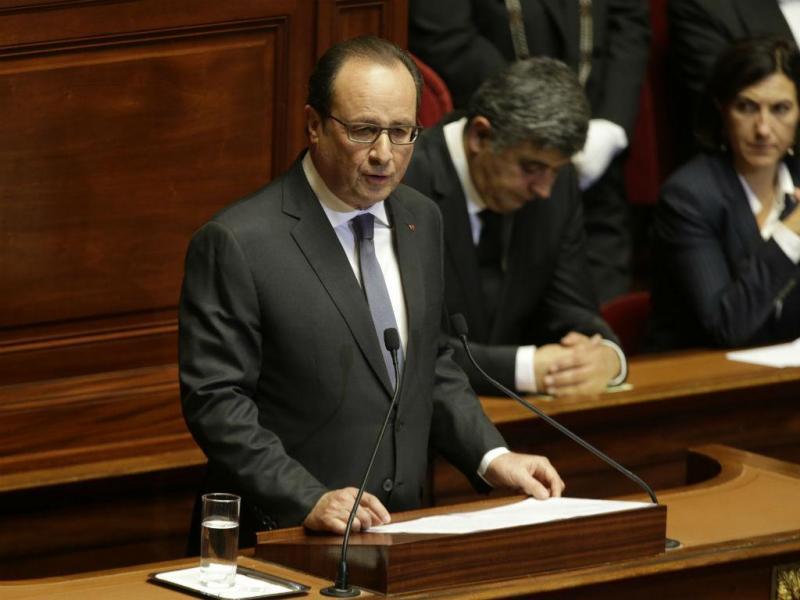 François Hollande no Parlamento francês (Reuters)