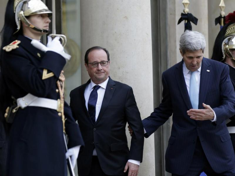 Hollande e Kerry (Fotos Reuters)
