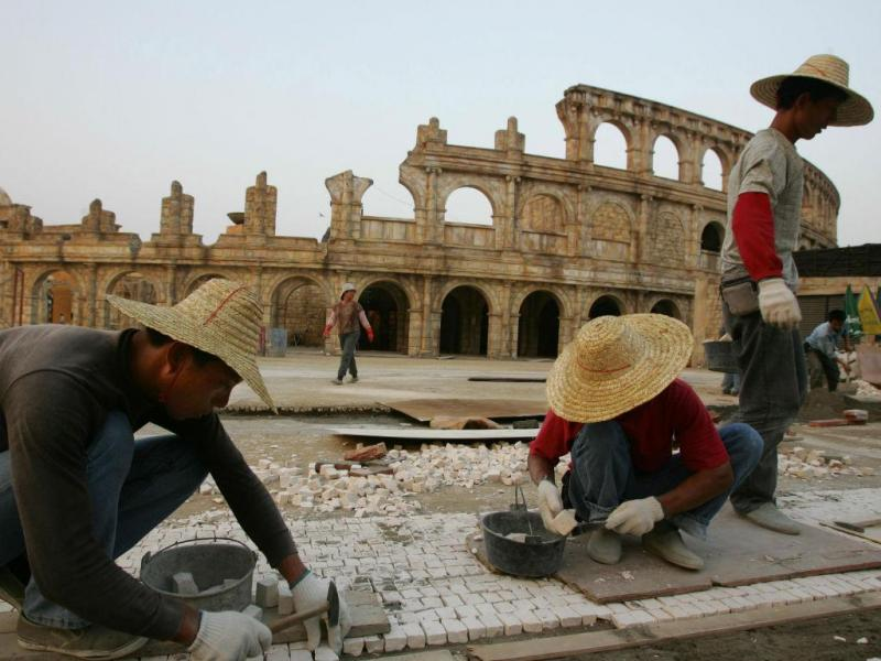 Réplica de monumentos na China