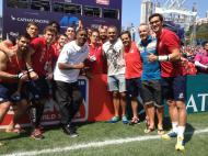 Jonah Lomu e a equipa nacional de Râguebi