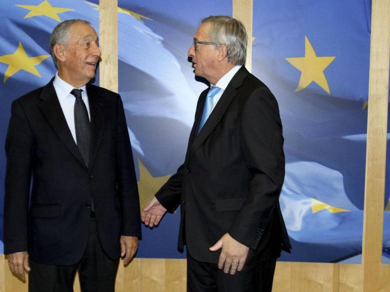 Marcelo Rebelo de Sousa e Jean-Claude Juncker (Fernando Vaz Neves/Lusa)
