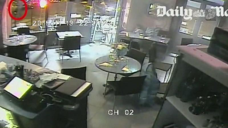 Imagens de videovigilância mostram violência de um dos ataques