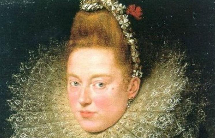 """Detalhe de """"Dama dele Licnidi"""", de Rubens"""