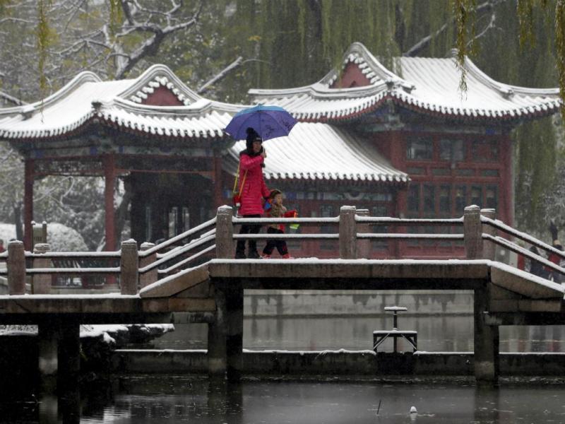 Neve em Pequim [Reuters]