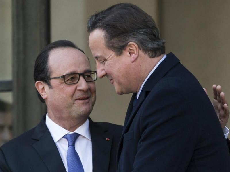 David Cameron e François Hollande