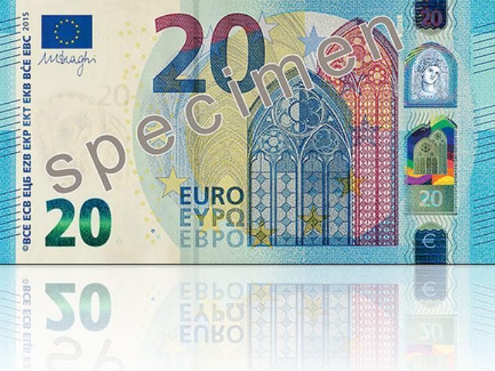 Nova nota de 20 € (Foto: site oficial)