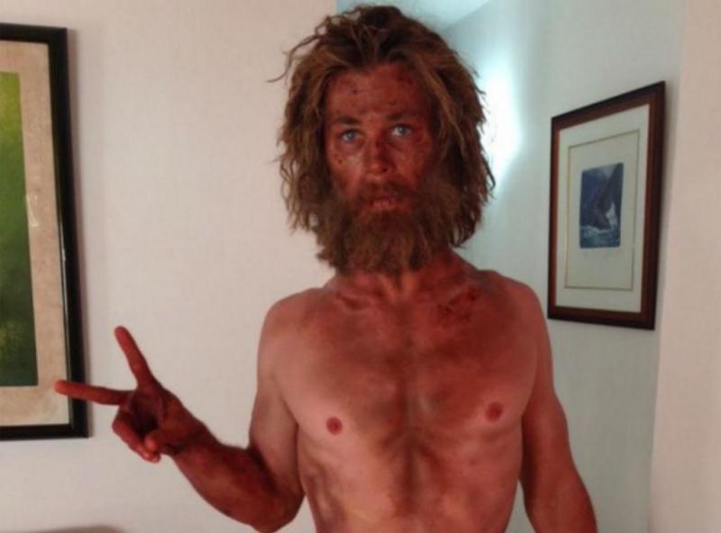 Chris Hemsworth fez uma dieta rigorosa para um papel num filme (Foto: Twitter)