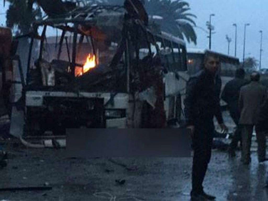 Explosão em autocarro em Tunis