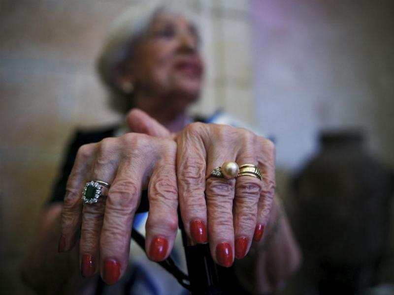 Concurso de beleza de sobreviventes do Holocausto em Israel (REUTERS/Amir Cohen)