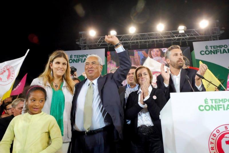 Ana Sofia Antunes e António Costa (Fonte: Facebook Costa 2015)