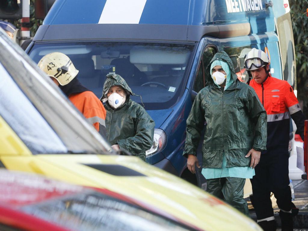Suspeitas de pó radioativo em mesquita de Bruxelas (EPA/Lusa)