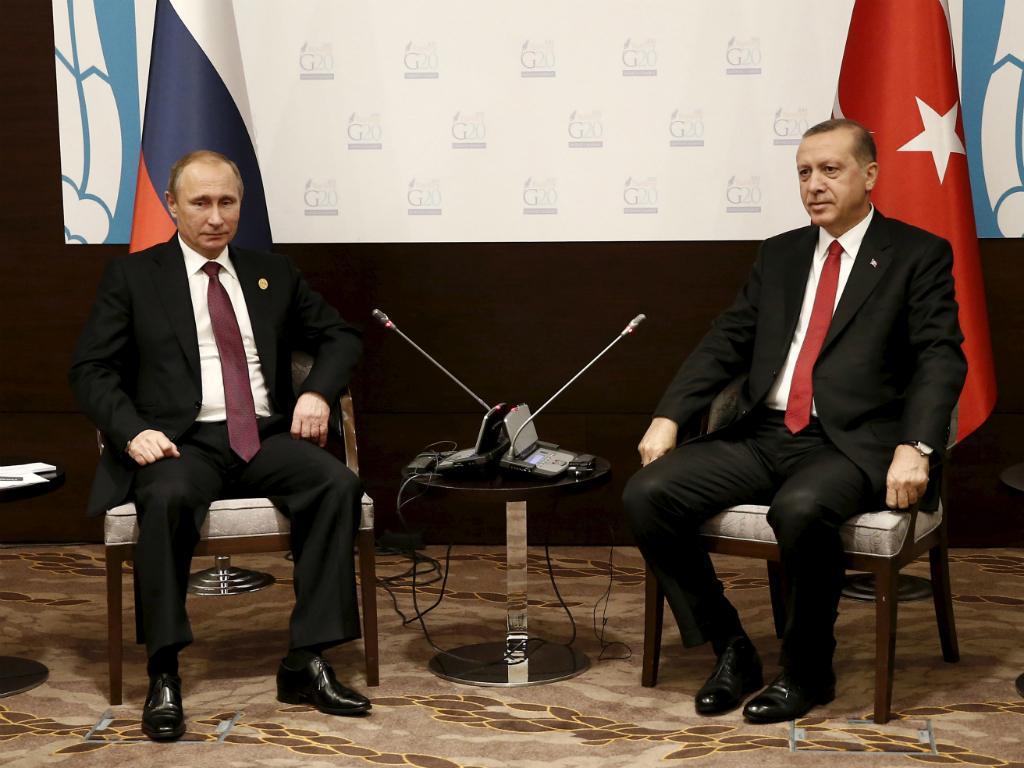 Vladimir Putin e Tayyip Erdogan