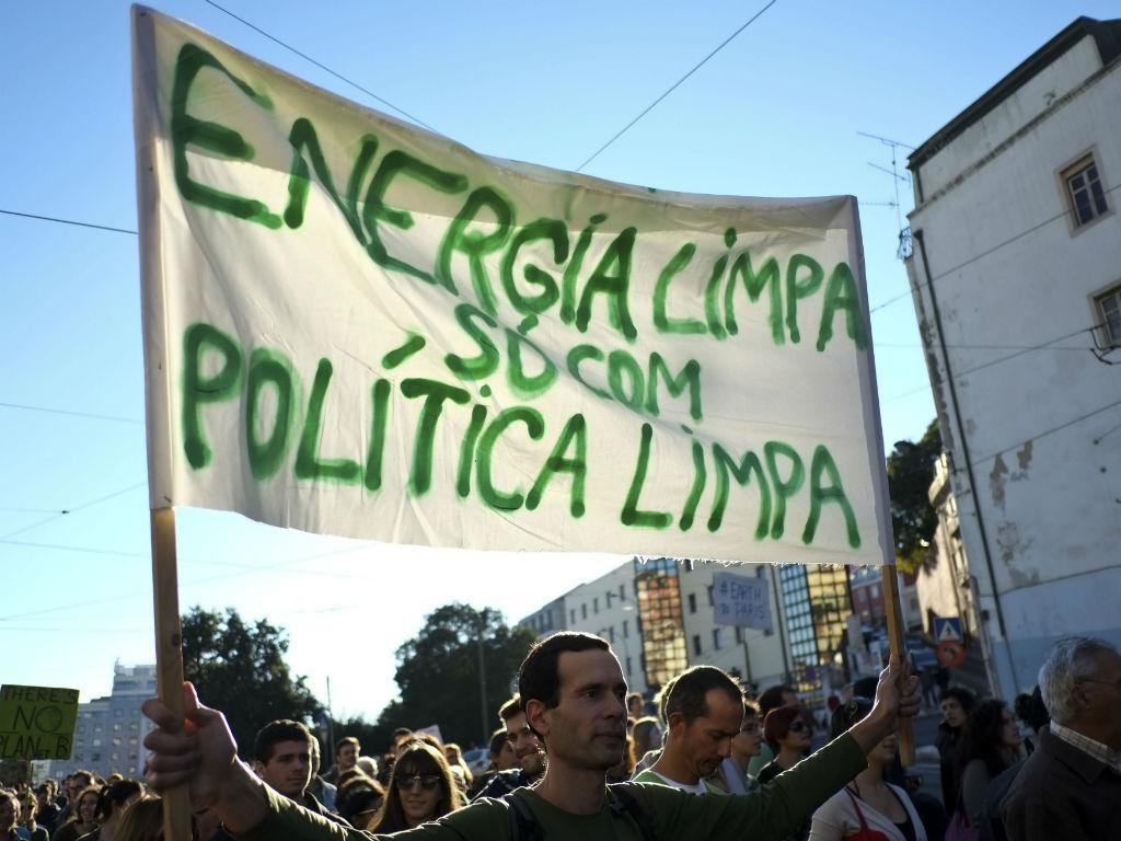 Marcha pelo clima em Lisboa [LUSA]