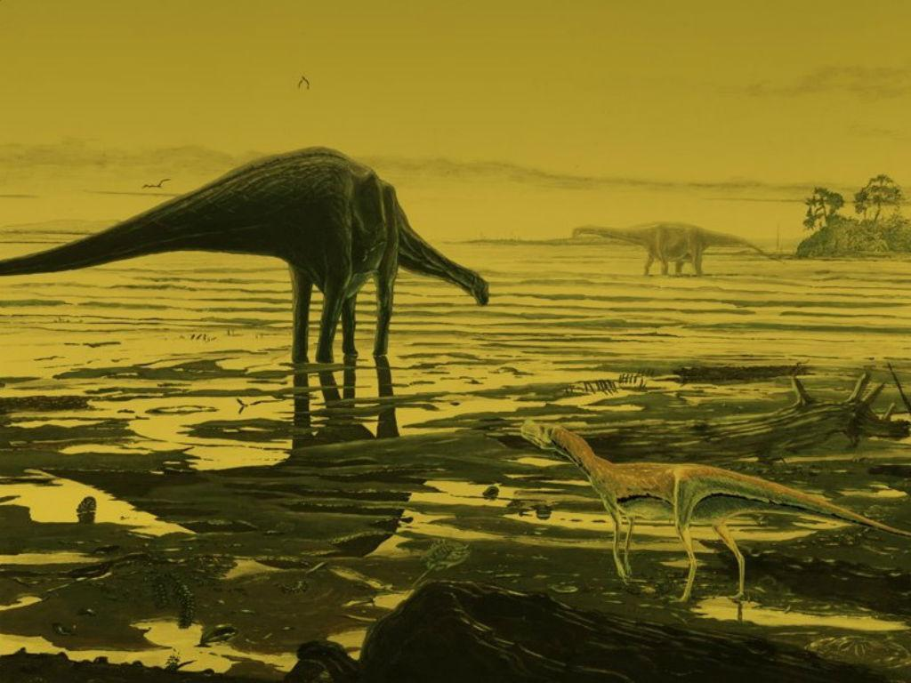 Descobertas pegadas de dinossauro na ilha escocesa de Skye (Reprodução Twitter)