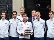 David Cameron recebe vencedores da Taça Davis (Foto: Lusa)