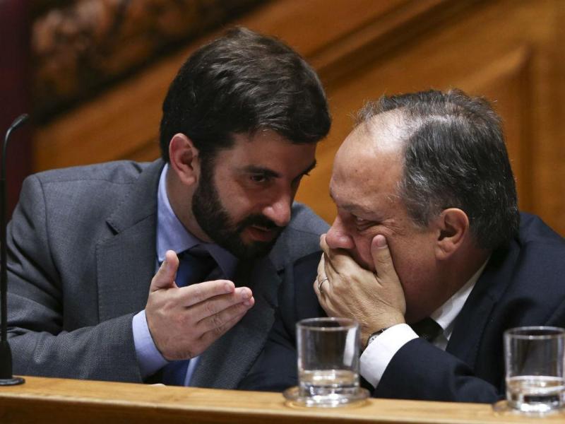 Ministro da Educação, Tiago Brandão Rodrigues  com o ministro da Cultura, João Soares  (MIGUEL A. LOPES/LUSA)