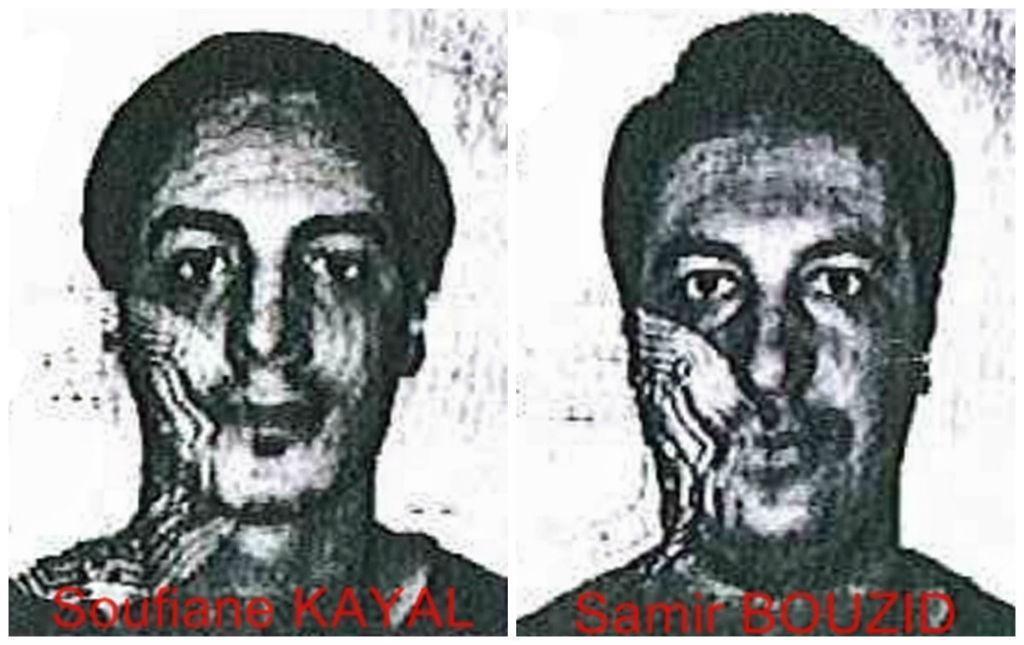 Sofiane Kayal e Samir Bouzid, suspeitos dos atentados de Paris (Policia Federal Belga)
