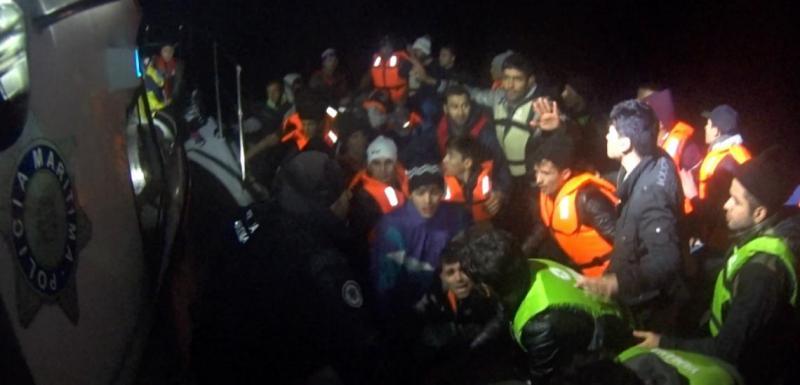 Polícia Marítima portuguesa resgata 55 afegãos