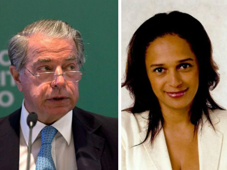 Ricardo Salgado (e) e Isabel dos Santos (d)