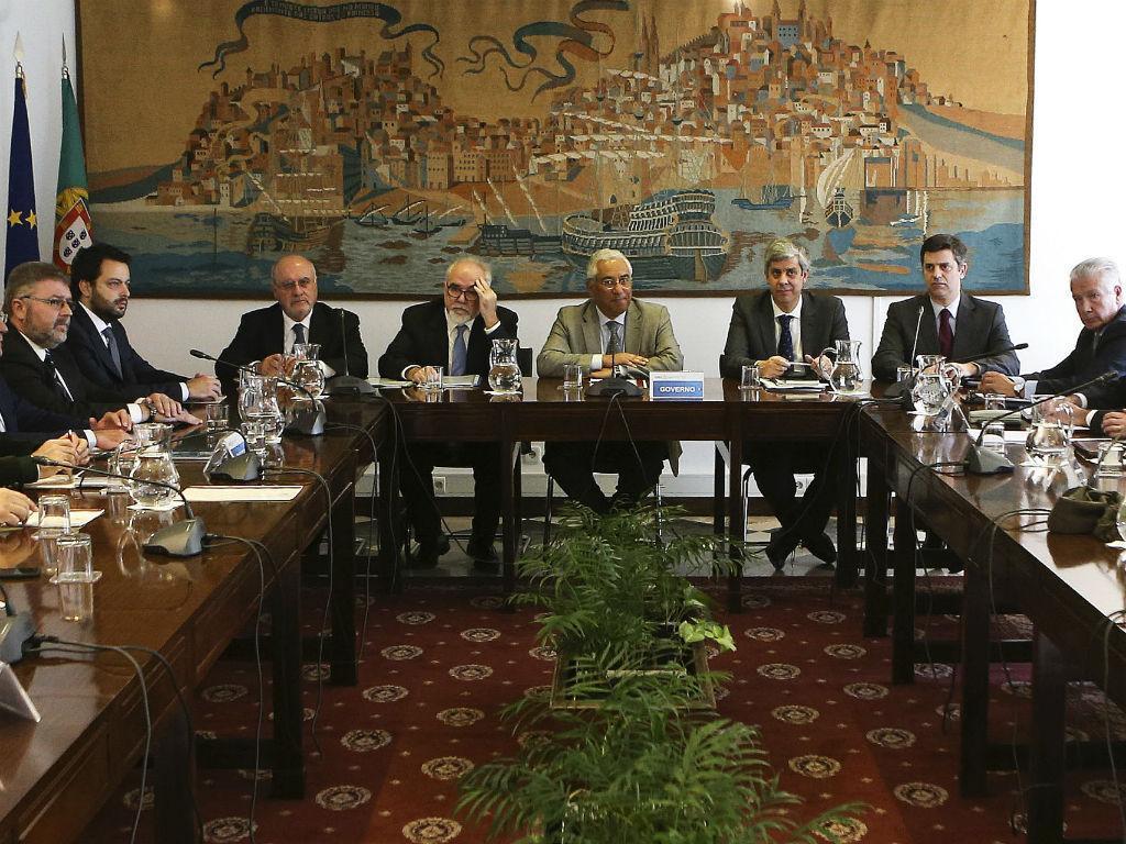 António Costa preside à reunião da Comissão Permanente de Concertação Social (MIGUEL A. LOPES/LUSA)