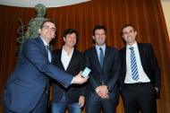 Hélder Pereira, Domingos, Figo e Pauleta (DR)