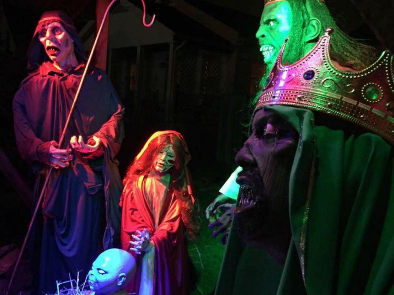 Presépio zombie (Reprodução: Zombie nativity scene)