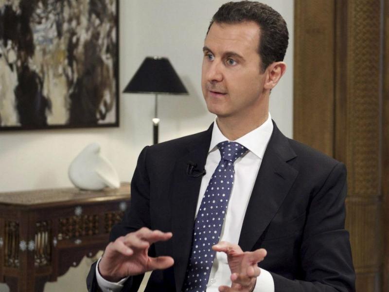 Bashar al Assad em entrevista à agência EFE (EPA/Lusa)