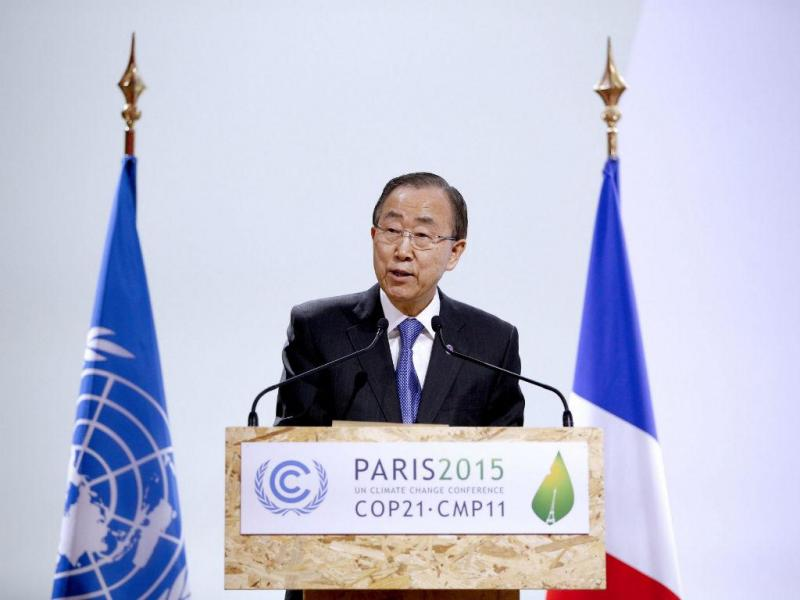 Secretário geral da ONU, Ban Ki-moon  (EPA / YOAN Valat)